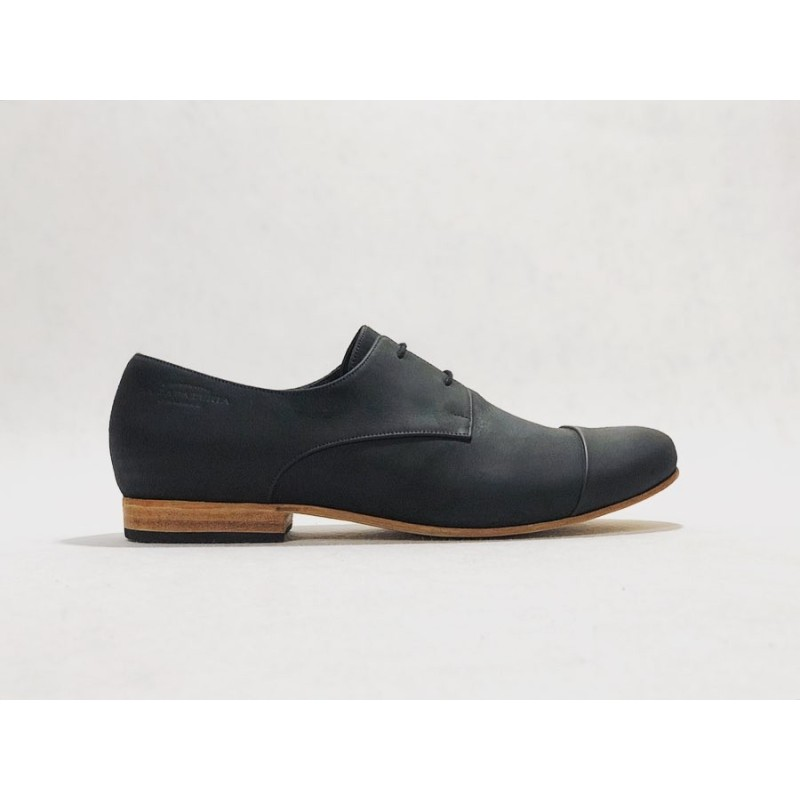 Sunset Classique handmade leather shoes fatty black