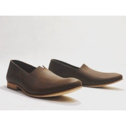 Gaucho handmade leather shoes fatty brown