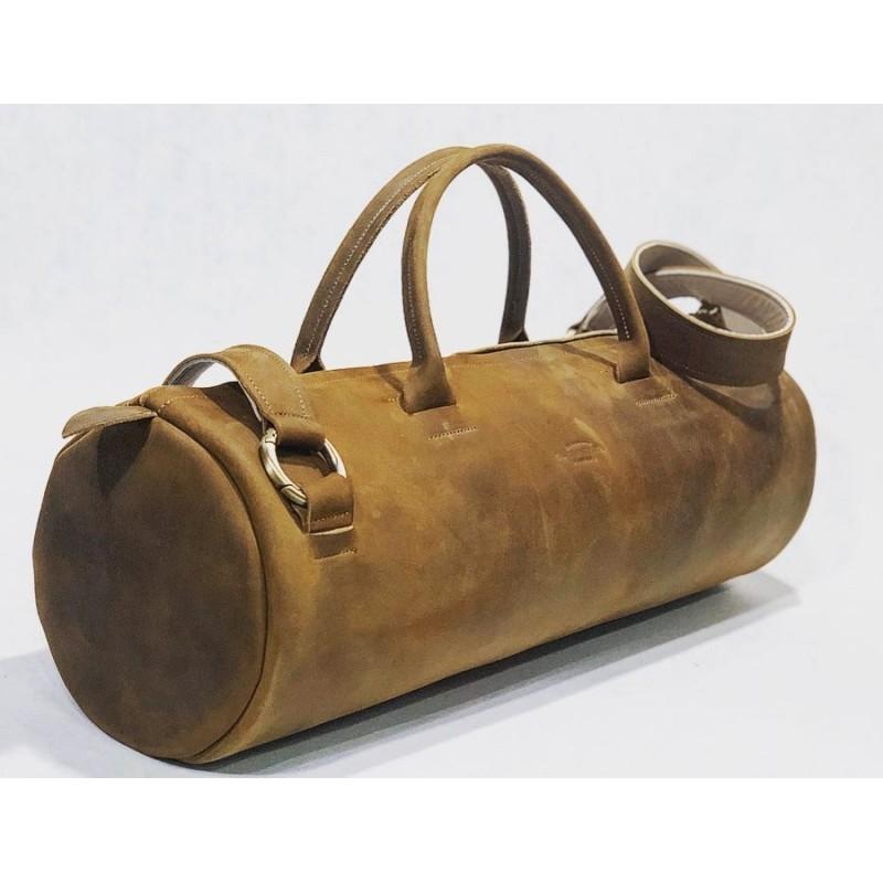 Pueblo handmade leather bag fatty brown