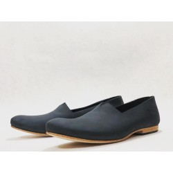 Gaucho handmade leather shoes fatty black
