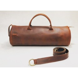 Pueblo handmade leather bag fatty red