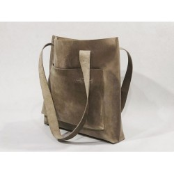 Campo handmade leather bag fatty dry soil