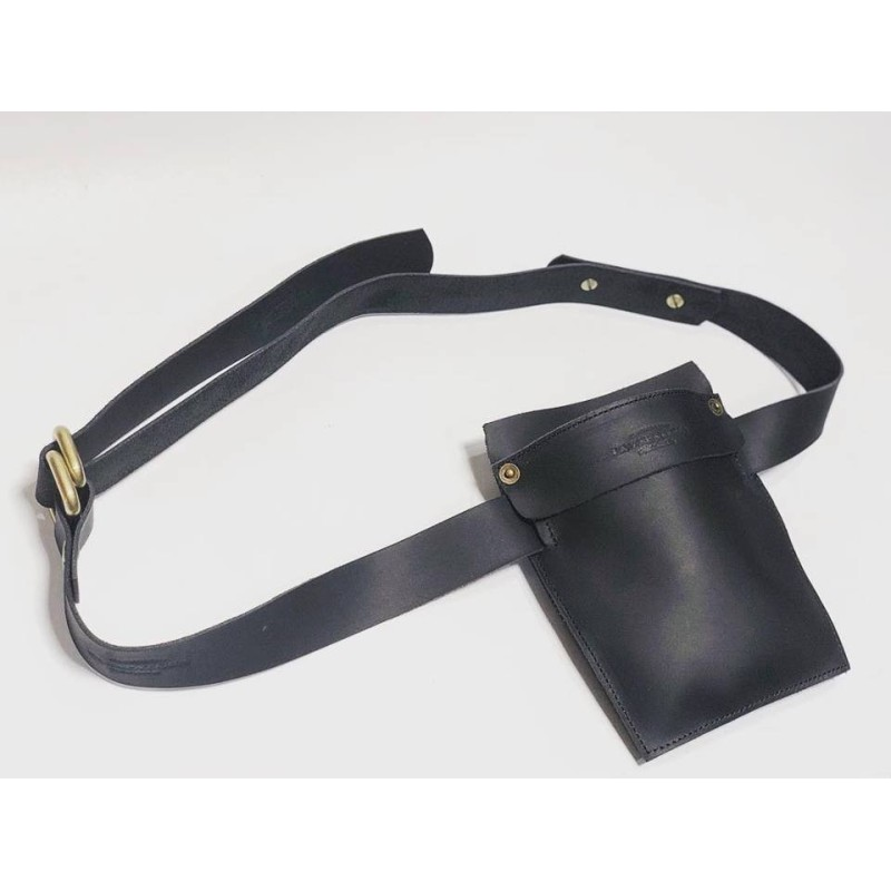 Heme handmade leather work accessory fatty black