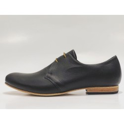 Satori Classique handmade leather shoes black napa details beige