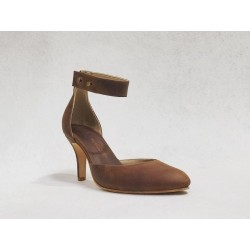 Catalina wine brown ranger heels 7 cm
