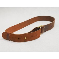 One handmade leather belt fatty red