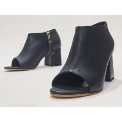 Bardot Brazil black napa wooden heels black matte 7 cm