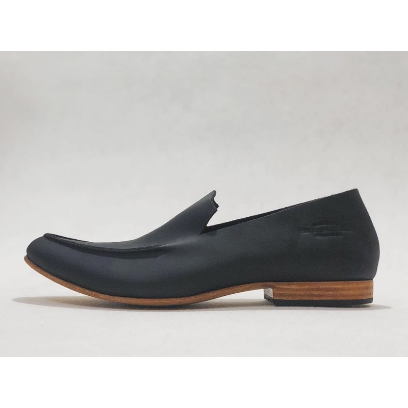 Ato handmade leather shoes fatty black matte