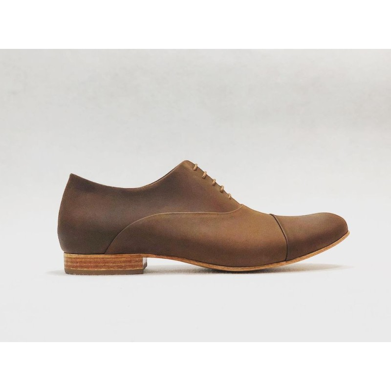 Satie handmade leather shoes fatty brown