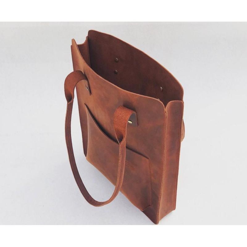 Nómada Bag 2 handmade leather laptop bag fatty red
