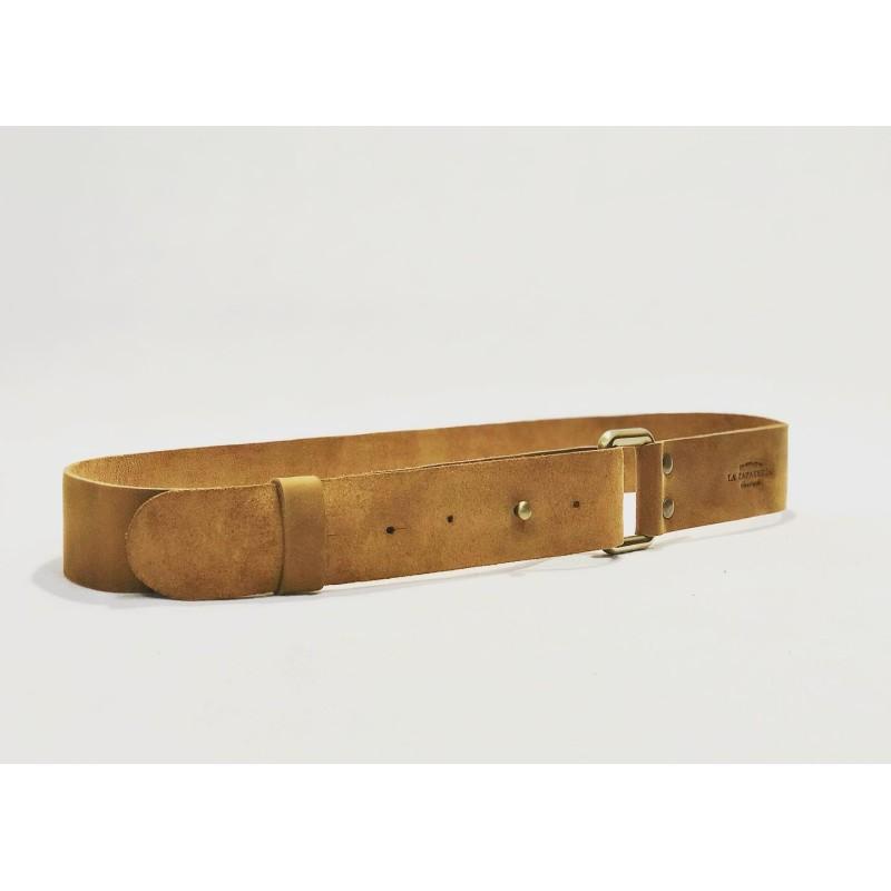 One handmade leather belt sand ranger