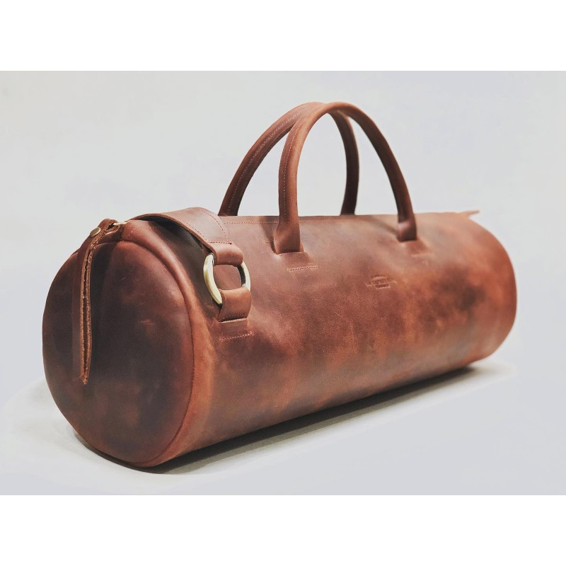 Pueblo handmade leather bag fatty red