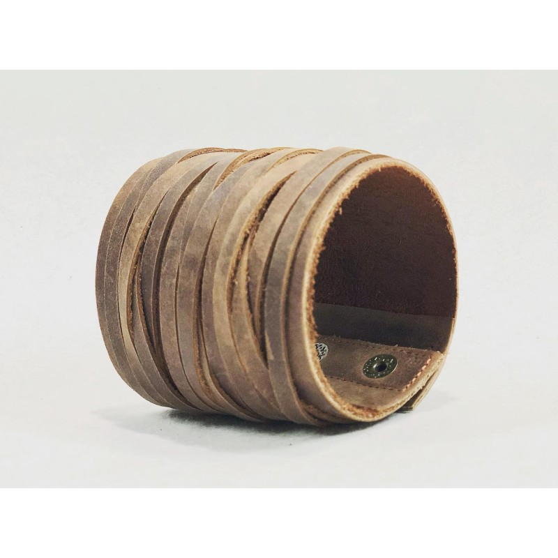 Apus handmade leather wristband wine brown ranger