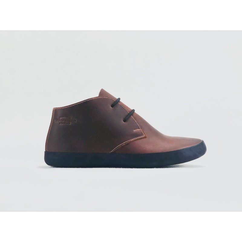 Chavo Recycled handmade leather shoes fatty red details pink black