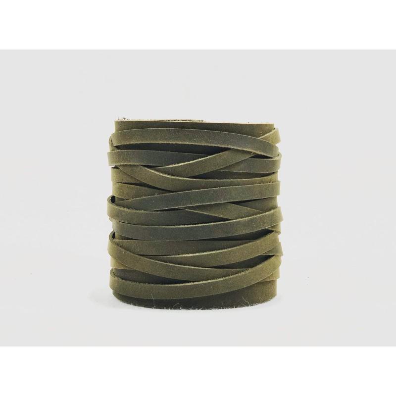 Apus handmade leather wristband fatty green