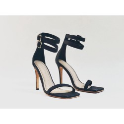 Colette black nappa leather with beige details
