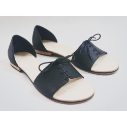 Maria black nappa leather