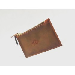 Conce purse greasy leather red