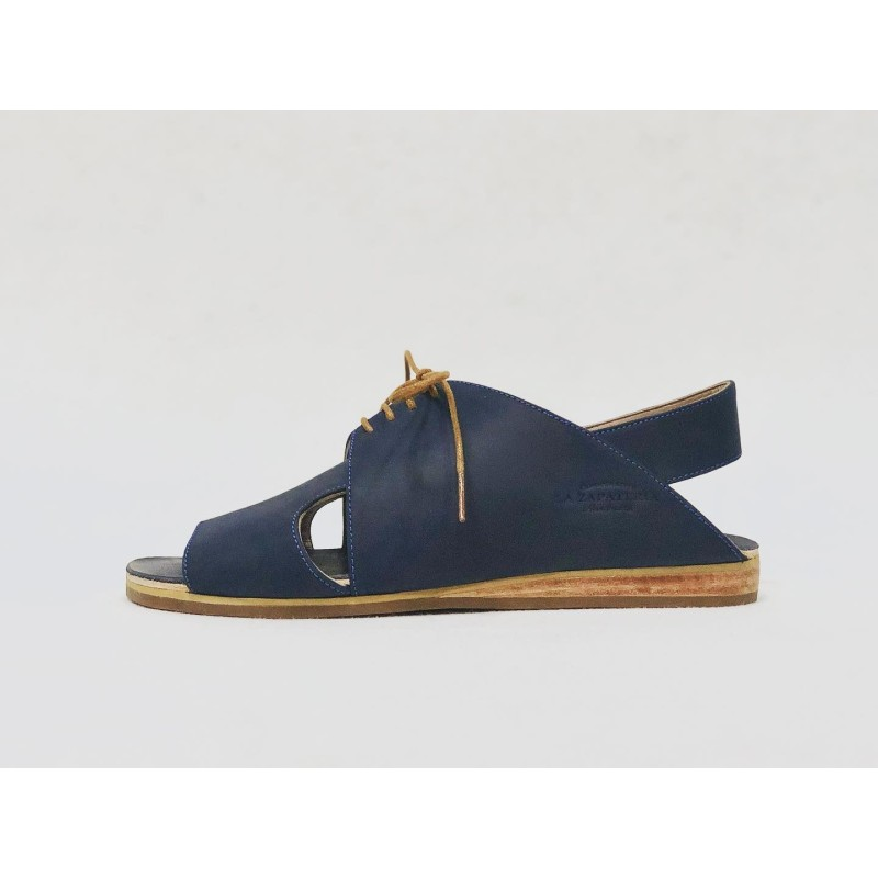 Selva blue oily leather