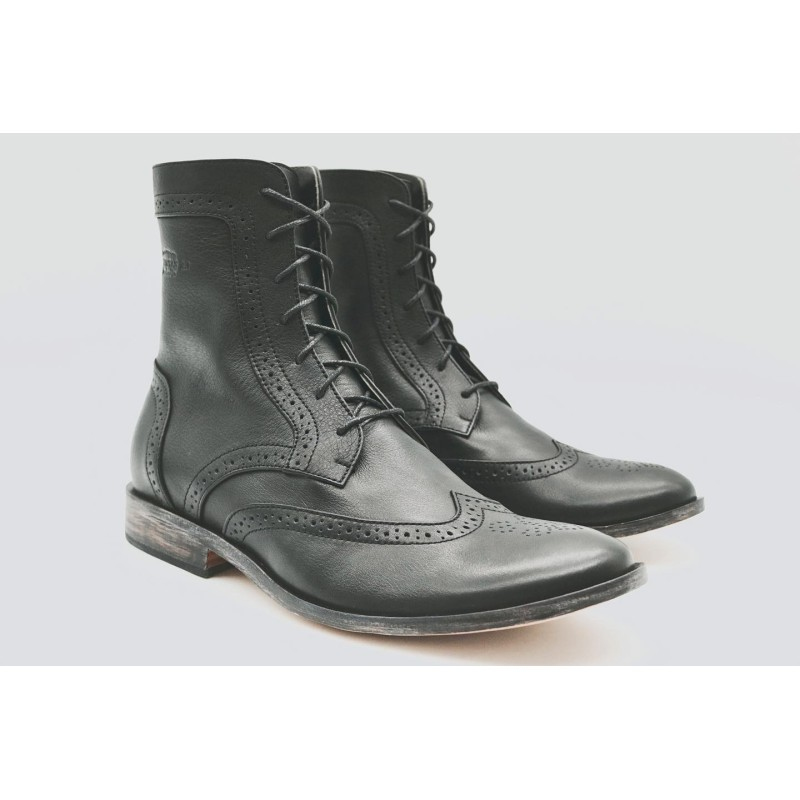 Coco black nappa Argentine leather shoe lined with sheep leather