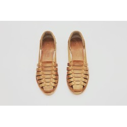 Indian Beloved Ranger Caramel with Ranger Detail Caramel Handmade Leather Sandals