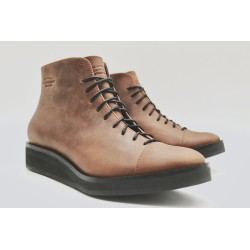 Ocho burgundy ranger leather with platform