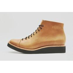 Ocho caramel color ranger leather with platform shoe made of handmade leather