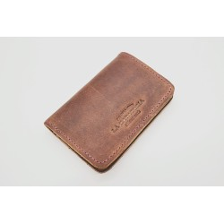 1656 Wine colored ranger leather wallet with lilac details handmade
