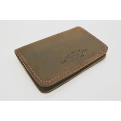 1656 Wallet Oily leather green handmade leather wallet