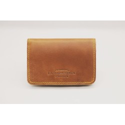 1656 handmade leather wallet caramel ranger